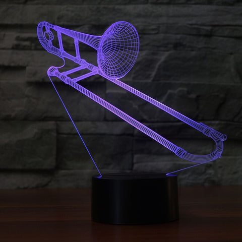 TROMBONE  3D  Lamp 8 Changeable Color [FREE SHIPPING]