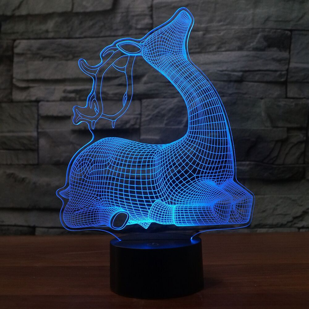 DEER 3D Lamp 8 Changeable Color  [FREE SHIPPING]