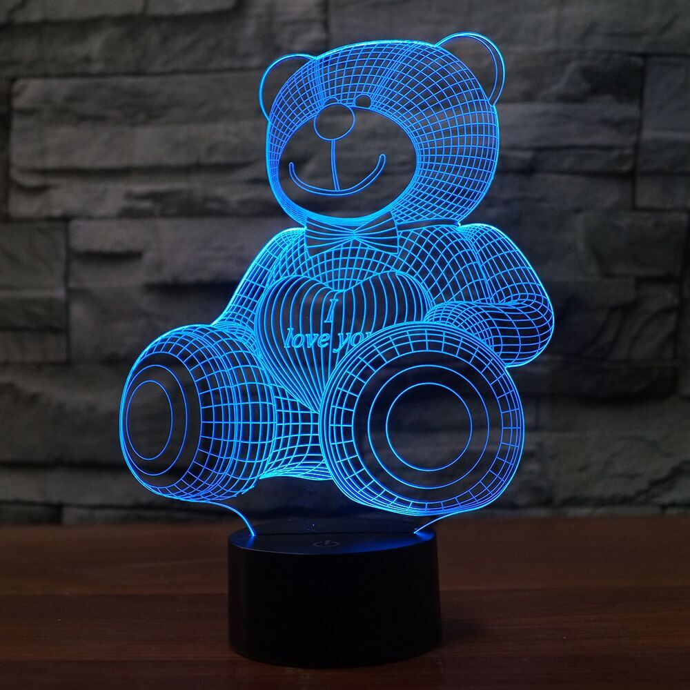 BEAR  3D Lamp 8 Changeable Color [FREE SHIPPING]