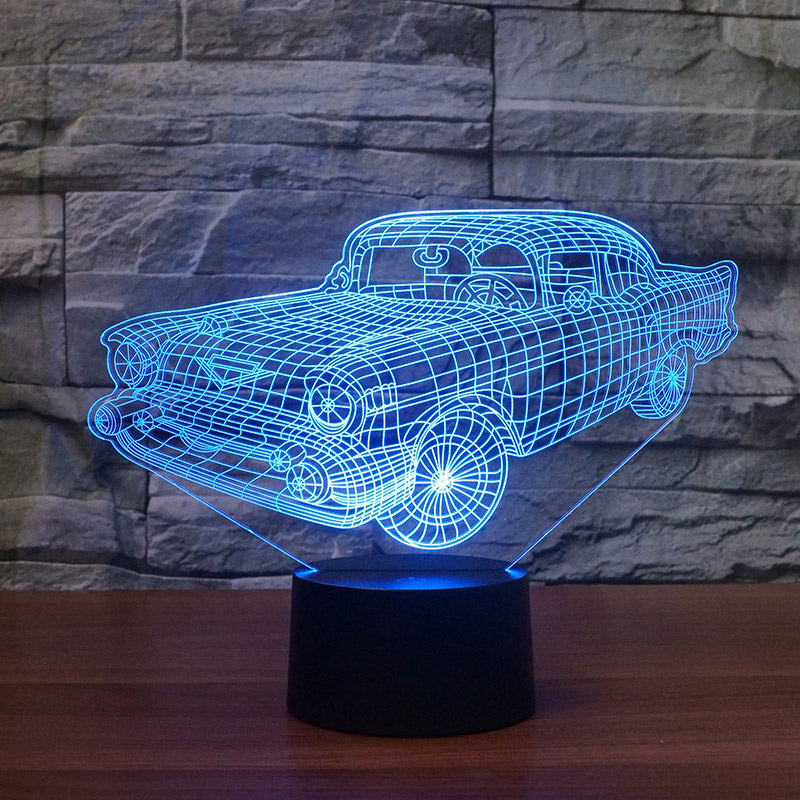 OLD CAR 3D LAMP 8 Changeable Colors  [FREE SHIPPING]