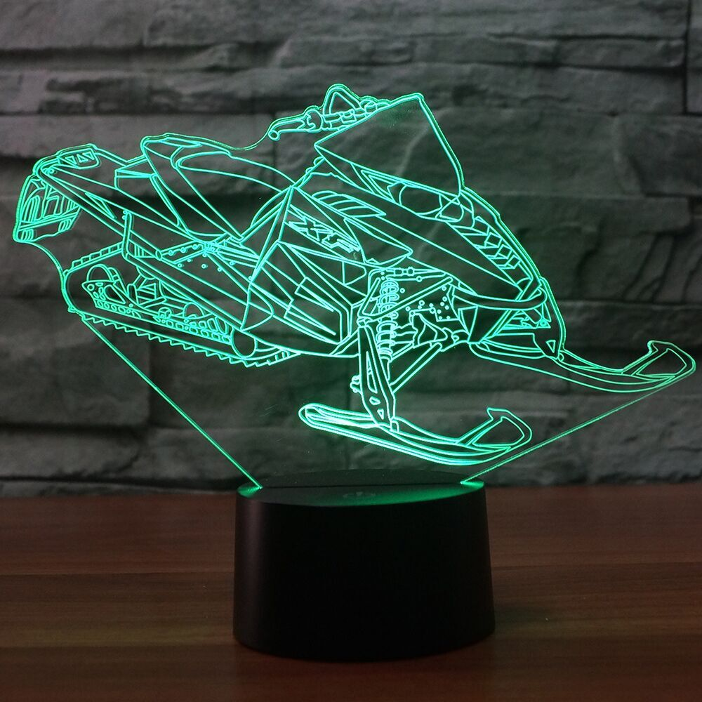Snowmobile  3D  Lamp 8 Changeable Color [FREE SHIPPING]