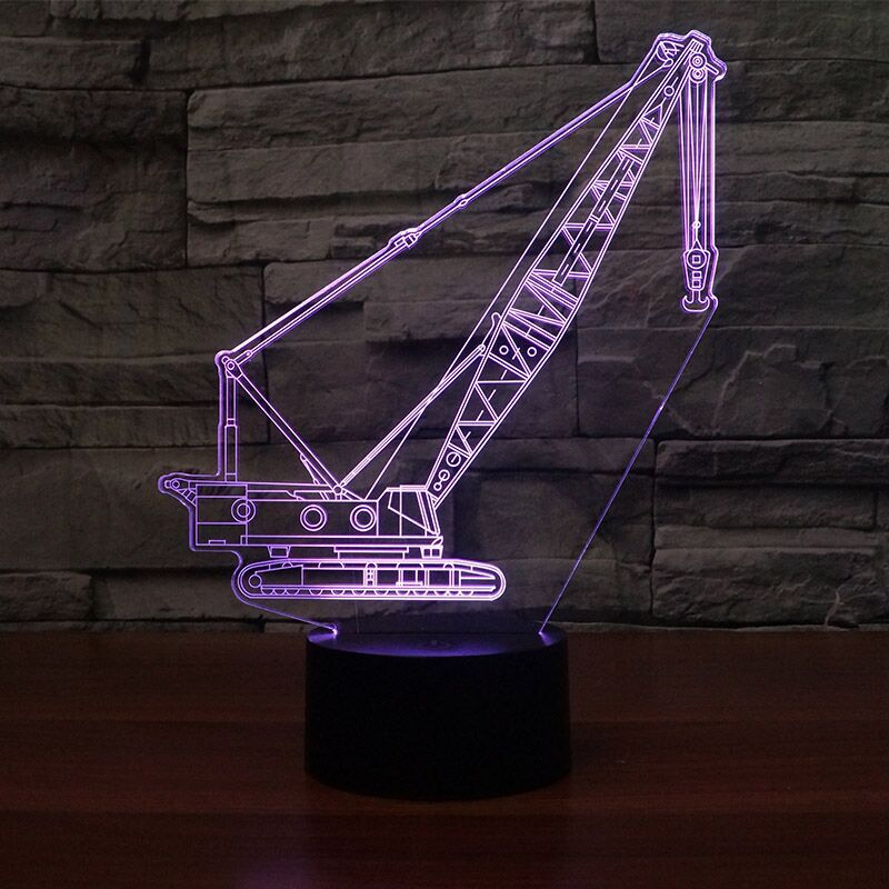 CRAWLER CRANE 3D Lamp 8 Changeable Colors big size [FREE SHIPPING]