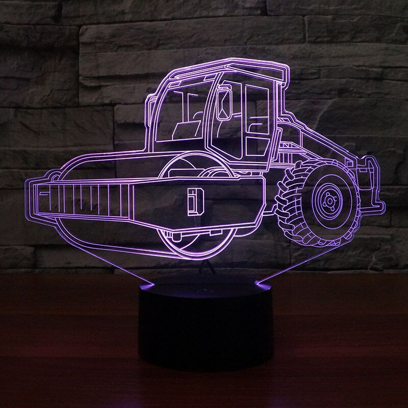 Road Roller 3D Lamp 8 Changeable Colors big size [FREE SHIPPING]