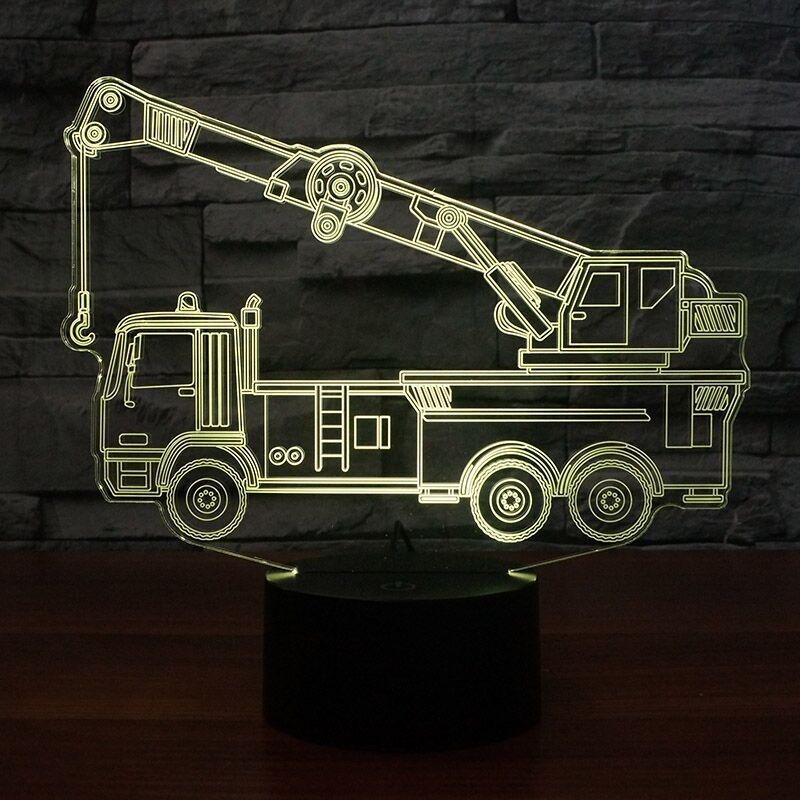 CRANE Truck 3D Lamp 8 Changeable Colors big size [FREE SHIPPING]