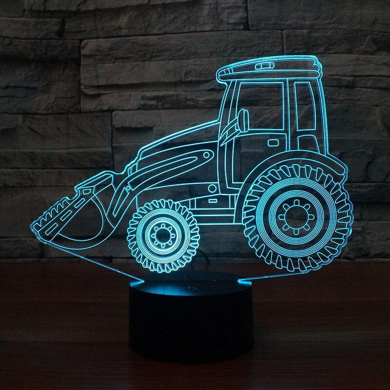 Loader Tractor 3D Lamp 8 Changeable Colors big size [FREE SHIPPING]