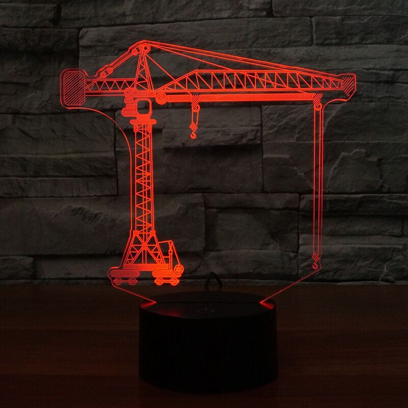 Crane Construction 3D Lamp 8 Changeable Colors big size [FREE SHIPPING]