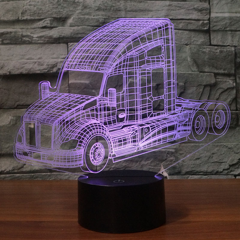 Kenworth T680 Truck 3D Lamp 8 Changeable Colors [FREE SHIPPING]
