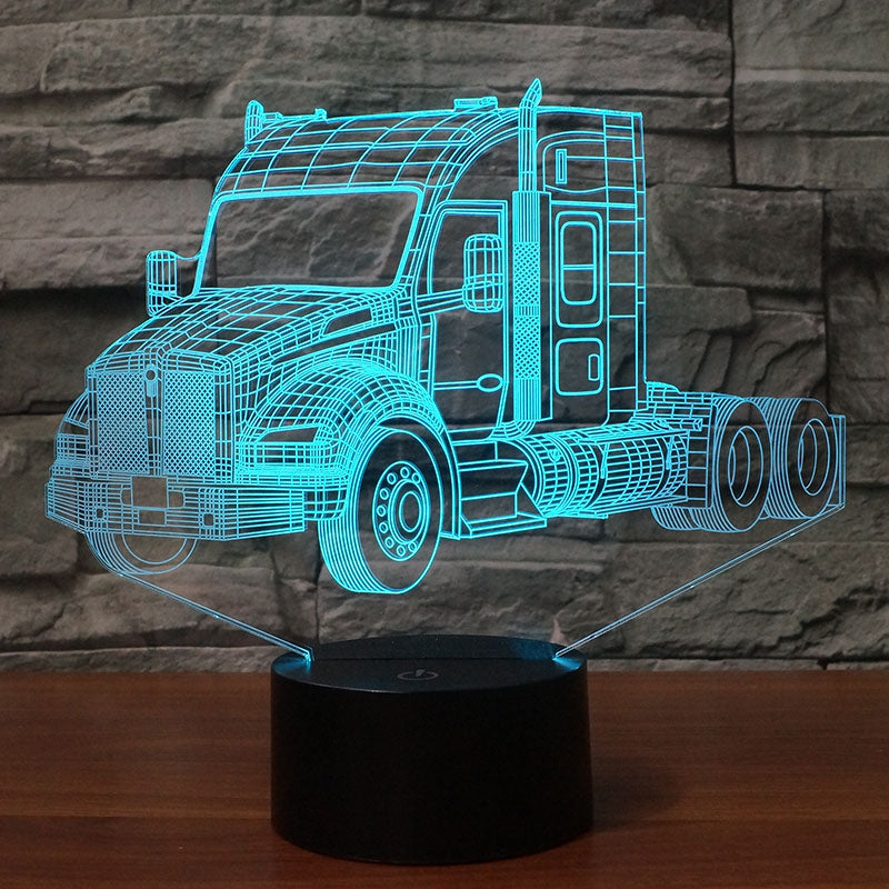 Kenworth T880 Sleeper Cab 2015 Truck 3D Lamp 8 Changeable Colors [FREE SHIPPING]