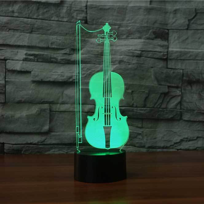VIOLIN  3D  Lamp 8 Changeable Color [FREE SHIPPING]