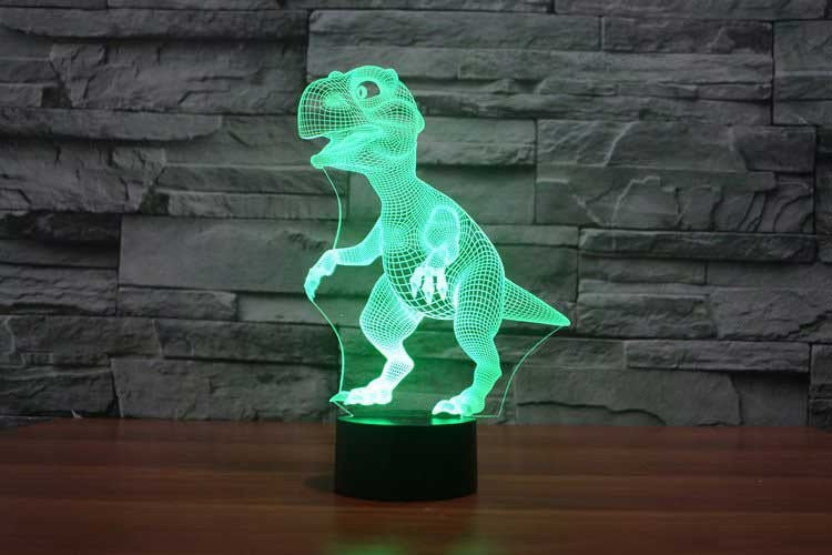 DINOSAUR 3D Lamp 8 Changeable Colors big size [FREE SHIPPING]
