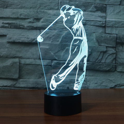 GOLF 3D LAMP 8 CHANGEABLE COLORS