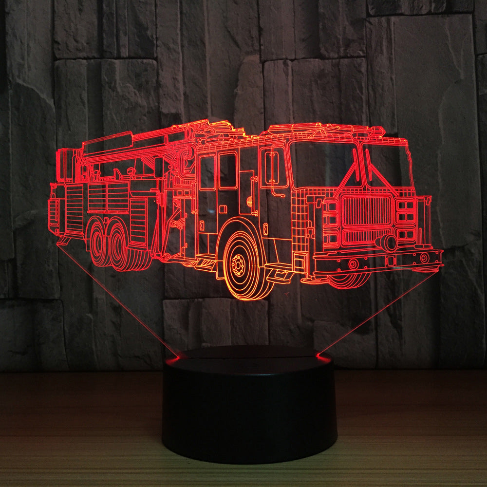 FIRE TRUCK 3D Lamp 8 Changeable Colors [FREE SHIPPING]