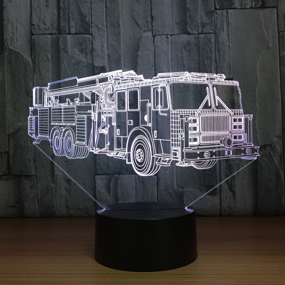 ... FIRE TRUCK 3D Lamp 8 Changeable Colors [FREE SHIPPING] ...