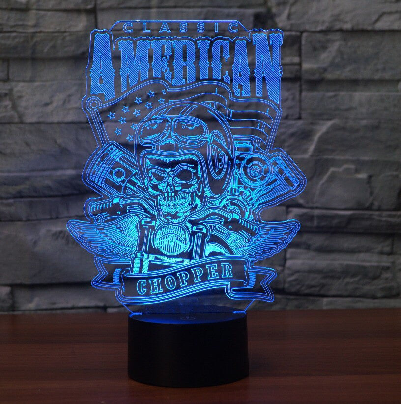 AMERICAN CHOPPER 3D  Lamp 8 Changeable Color [FREE SHIPPING]