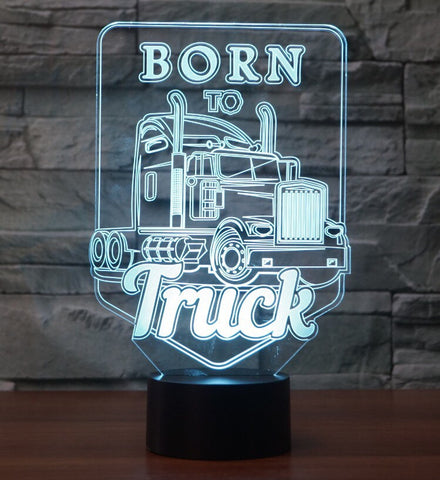 Born to Truck 3D  Lamp 8 Changeable Color [FREE SHIPPING]