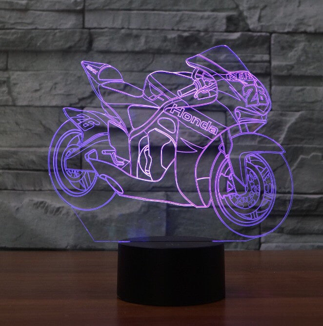 HONDA MOTO 3D  Lamp 8 Changeable Color [FREE SHIPPING]