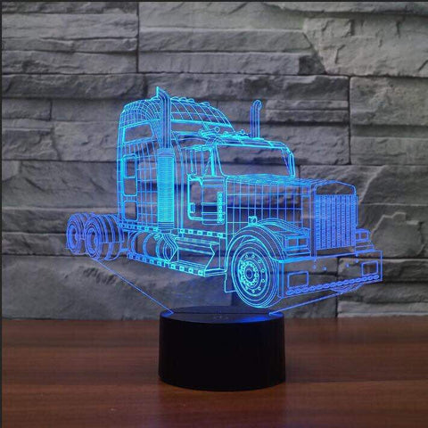TRUCK (2) 3D Lamp 8 Changeable Colors big size [FREE SHIPPING]