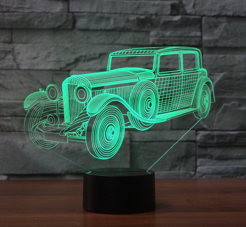 VINTAGE CAR 3D  Lamp 8 Changeable Color [FREE SHIPPING]
