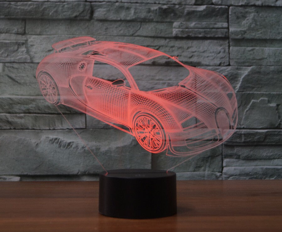 BUGATTI VEYRON CAR 3D  Lamp 8 Changeable Color [FREE SHIPPING]