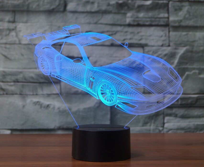 CAR 3D  Lamp 8 Changeable Color [FREE SHIPPING]