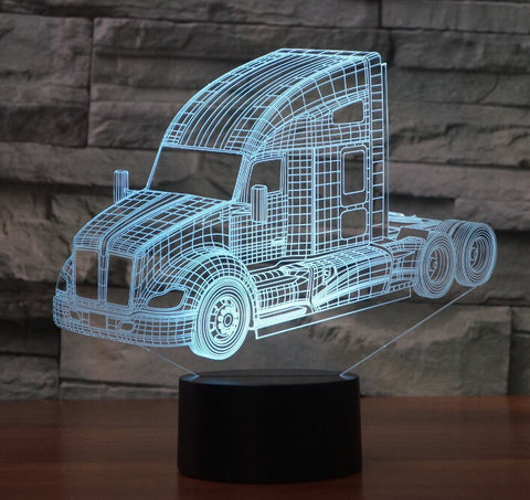 KENWORTH 3D Lamp 8 Changeable Colors big size [FREE SHIPPING]