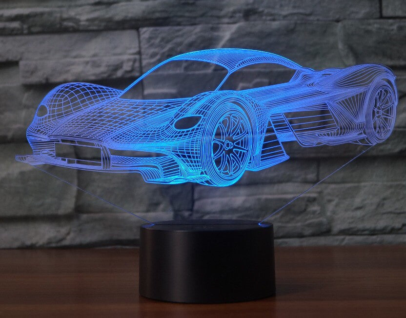 ASTON MARTIN  3D  Lamp 8 Changeable Color [FREE SHIPPING]
