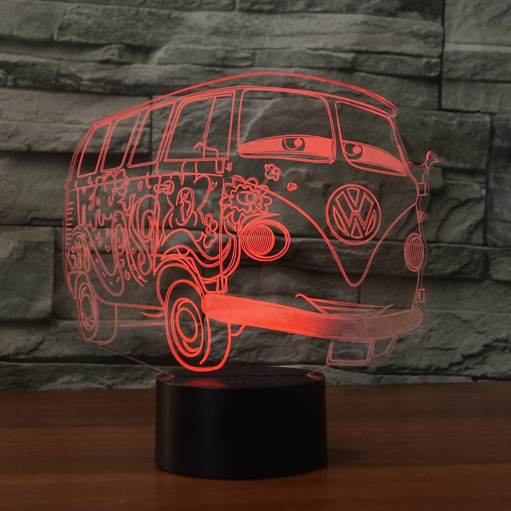 Volkswagen  3D  Lamp 8 Changeable Color [FREE SHIPPING]