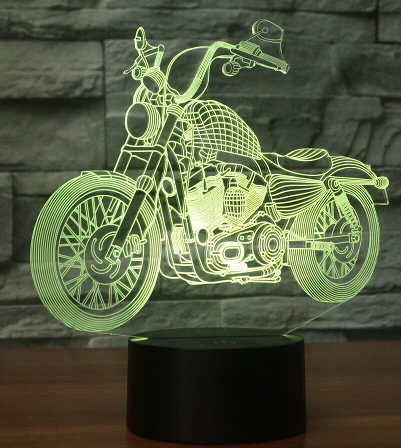 72 motorcycle 3D LAMP 8 CHANGEABLE COLORS