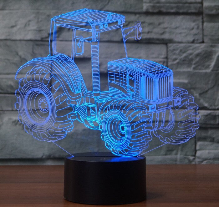 TRACTOR  3D Lamp 8 Changeable Colors big size [FREE SHIPPING]