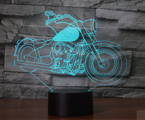 Motorcycle 3D LAMP 8 CHANGEABLE COLORS