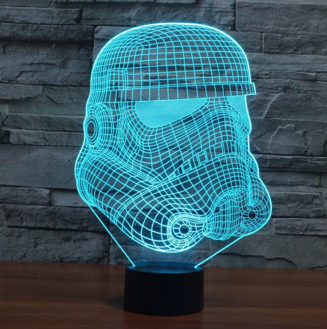 Star Wars Stromtrooper 3D  Lamp 8 Changeable Color  [FREE SHIPPING]