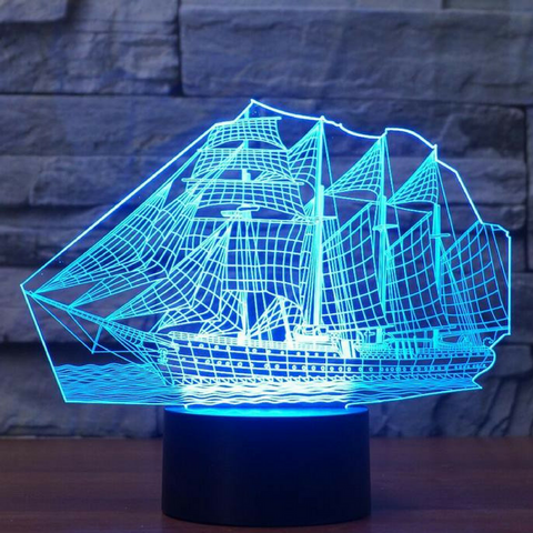 FLAGSHIP   3D LAMP 8 Changeable Colors big size [FREE SHIPPING]