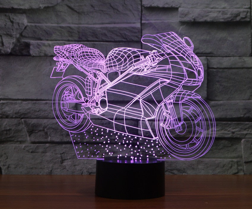 SPORT BIKE 3D Lamp 8 Changeable Colors [FREE SHIPPING]
