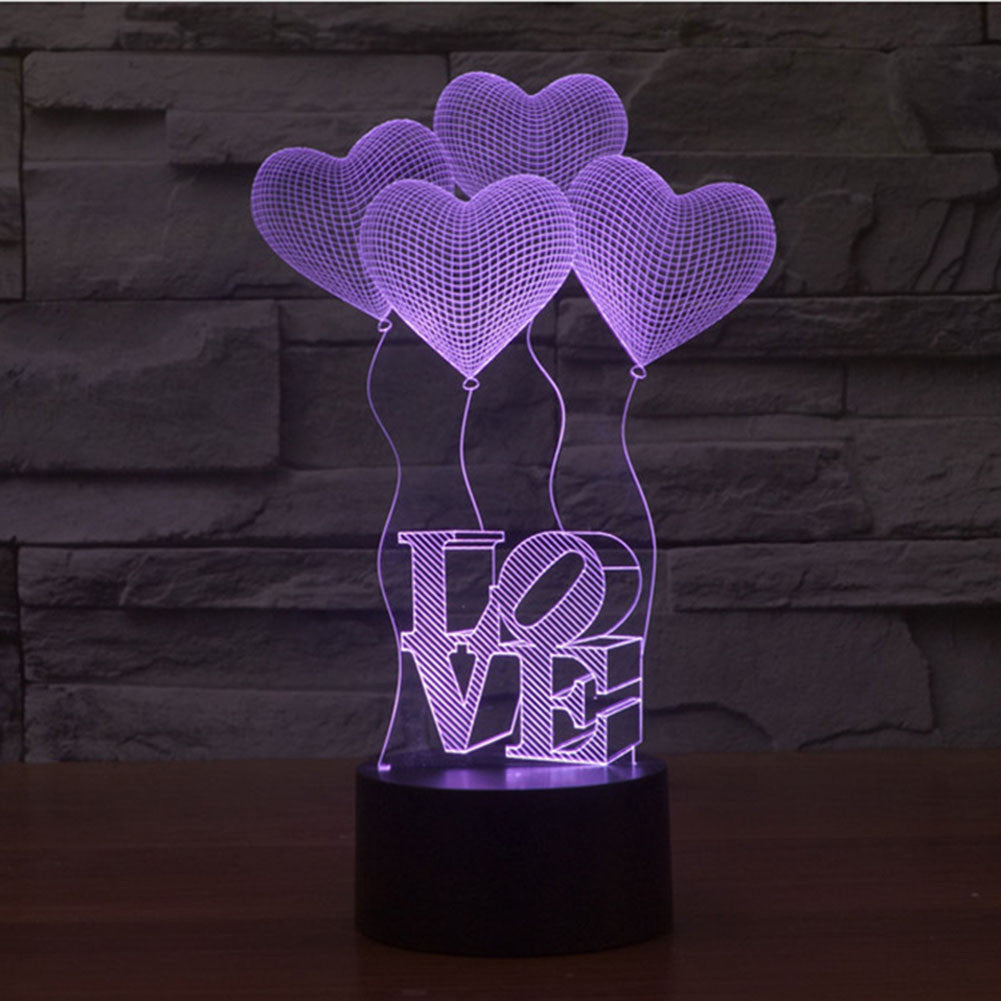 BALOON/LOVE 3D Lamp 8 Changeable Color [FREE SHIPPING]