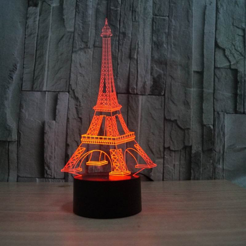 EIFFEL TOWER 3D  Lamp 8 Changeable Color [FREE SHIPPING]