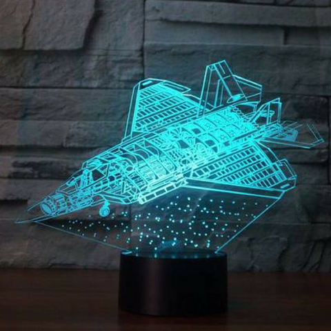 PLANE PROFILE CHART 3D LAMP 8 CHANGEABLE COLORS