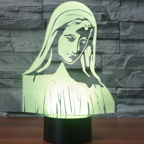 Mary 3D LAMP 8 CHANGEABLE COLORS