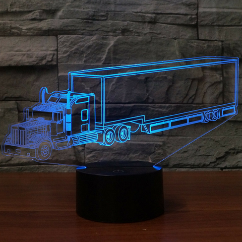 Kenworth W900 Sleeper Cab Trailer 2014 3D Lamp 8 Changeable Colors [FREE SHIPPING]