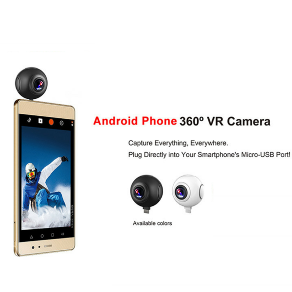AT-V20 Andriod Stylish Pano Live Dual 360°Panoramic Camera