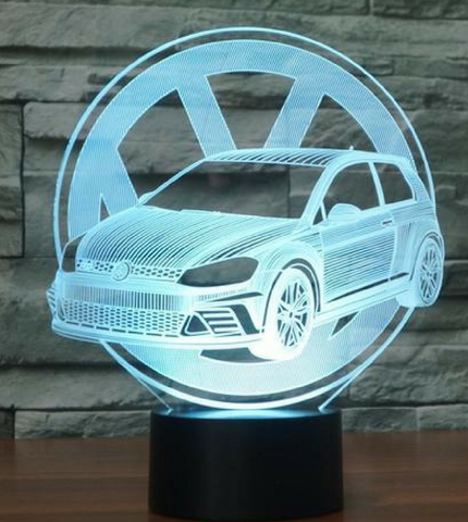 GOLF W/ LOGO  3D Lamp 8 Changeable Colors big size [FREE SHIPPING]