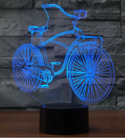 BIKE 3D LAMP 8 CHANGEABLE COLORS