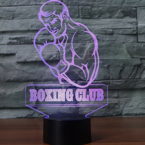 BOXING CLUB 3D Lamp 8 Changeable Colors big size [FREE SHIPPING]