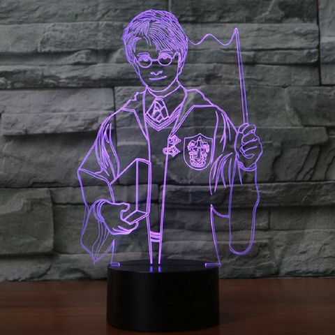 Harry potter 3D  Lamp 8 Changeable Color [FREE SHIPPING]