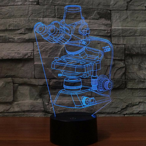 Microscope 3D Lamp 8 Changeable Colors  [FREE SHIPPING]
