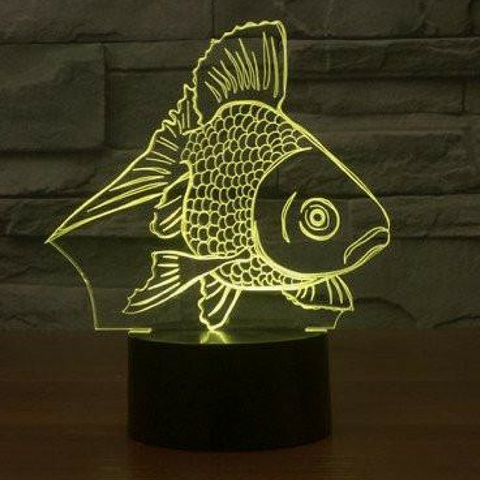 GOLDFISH 3D Lamp 8 Changeable Colors big size [FREE SHIPPING]