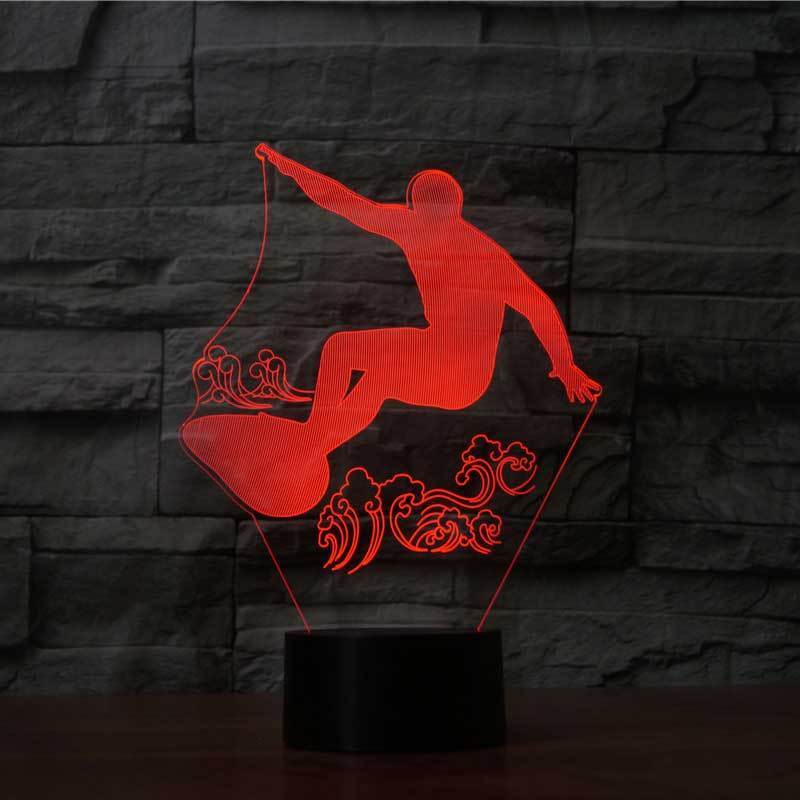 SURFING 3D LAMP 8 CHANGEABLE COLORS
