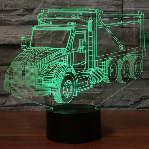 Kenworth T880 2017 Tipper Truck 3D Lamp 8 Changeable Colors [FREE SHIPPING]