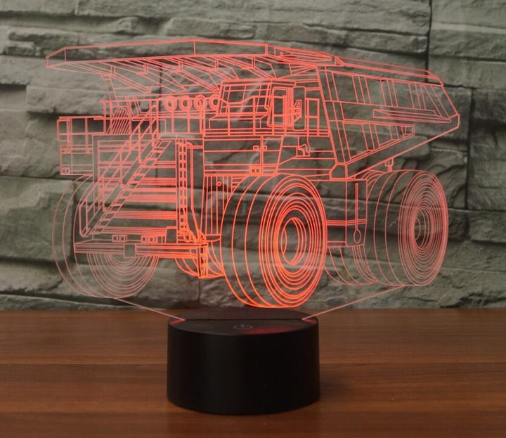 Haul Truck 3D Lamp 8 Changeable Colors big size [FREE SHIPPING]