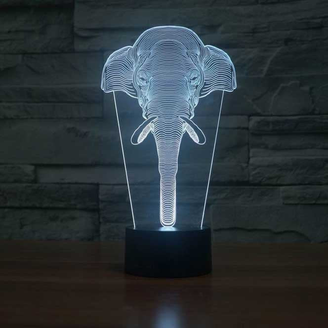 Elephant 3D Lamp 8 Changeable Colors [FREE SHIPPING]