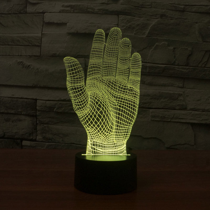 PALM 3D LAMP Lamp 8 Changeable Color  [FREE SHIPPING]